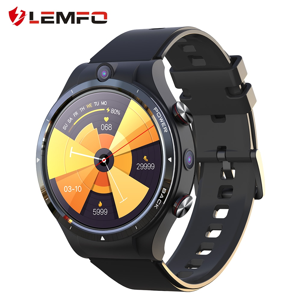 LEMFO LEM15 Smart Watch 4G Android 10.7 Helio P22 Chip 4G 128GB...