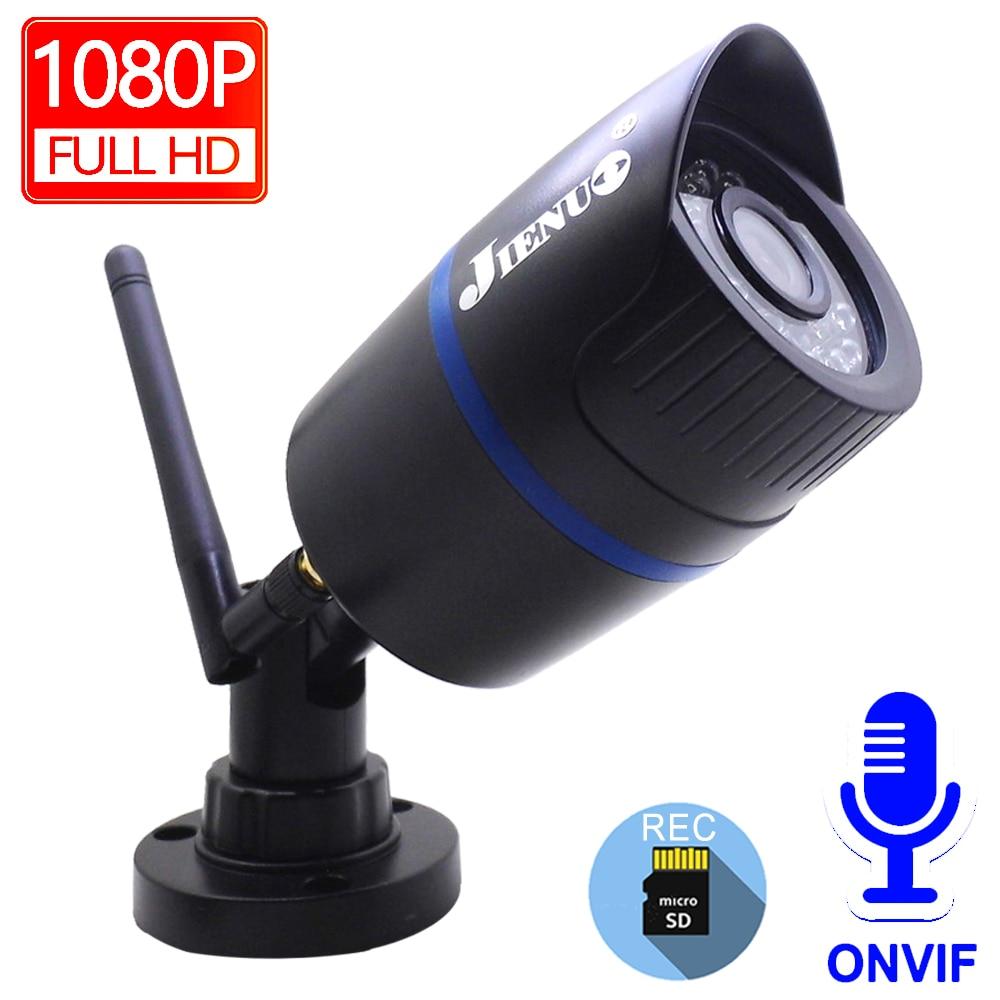 JIENUO IP Camera Wifi 1080P HD Cctv Security Surveillance Outdoor Waterproof Audio Cam NightVision Infrared Wireless Home