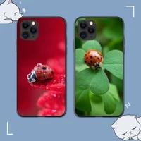 ruicaica ladybug green leaf phone case for iphone 8 7 6 6s plus x 5s se 2020 xr 11 12 mini pro xs max