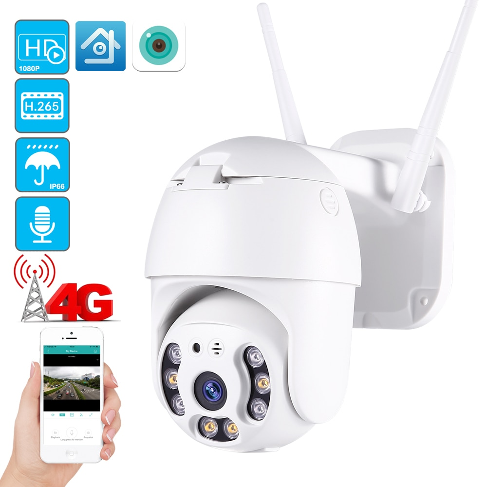 3G 4G SIM card 2mp ip camera wifi h.265X 1080p PTZ CMOS 2mp wireless IP camera 3.6mm two way audio p2p security ptz dome