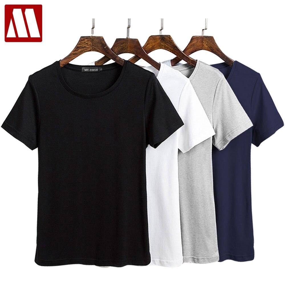 Camiseta de talla grande informal de verano 2020 para mujer, camiseta Harajuku europea de algodón, camiseta de mujer con cuello redondo, Tops ceñidos de manga corta, gran oferta XXXL