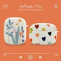 for apple airpods 1 2 heart flowers earphone case for airpods pro soft bumper cover shell headset accessories for air pods 3