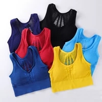 2021 new womens medium mesh support cross back wirefree removable cups sport bra tops freedom seamless yoga running sports bras