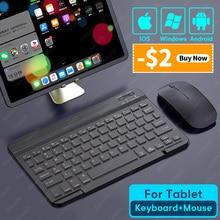 Teclado inalámbrico para tableta, compatible con Bluetooth, iPad, Samsung, Xiaomi, Huawei, iOS, Android y Windows