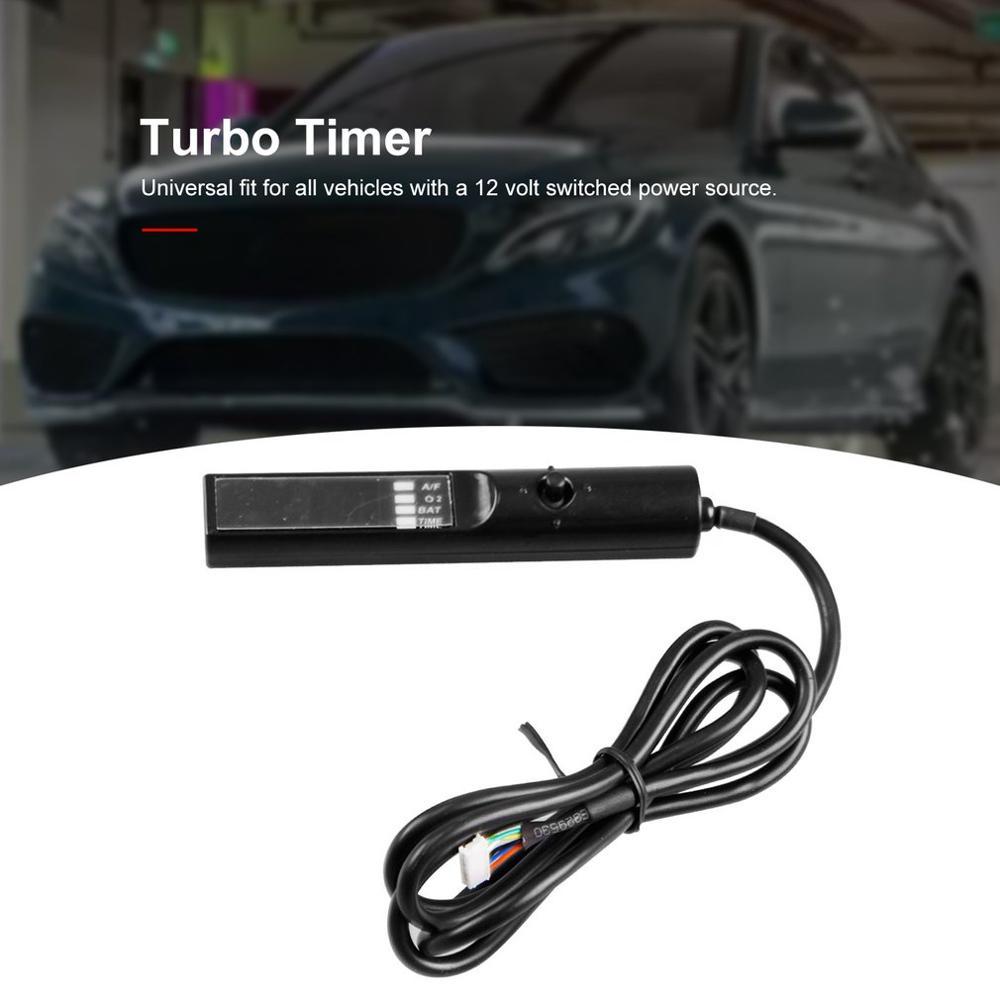 Universal turbo delayer carro relé controlador com azul led digital para na & turbo preto caneta controle