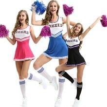 Glee chica de escuela secundaria Musical animadora letra raya Patchwork cuello redondo sin mangas traje indumentaria ropa atuendo despedida de soltera