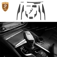 for bmw 5 series g38 dry carbon fiber interiors dashboard trim covers car accessories 2018