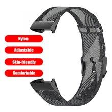 Ремешок нейлоновый для часов, сменный Браслет для покупок на открытом воздухе, аксессуары для Fitbit Charge 4 3 SE