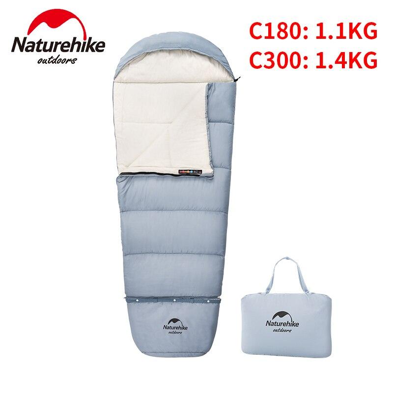 Naturehike Ultralight Outdoor Kids Cotton Sleeping Bag Portable Travel Camping Lengthen Splicing Children Envelope Lazy Bag