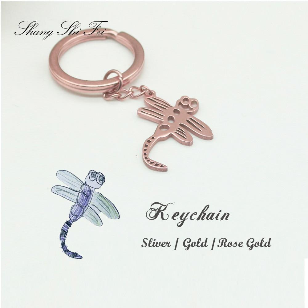 Детский брелок для ключей с фотографиями, персонализированный детский аксессуар для ключей с именем под заказ, Ювелирное Украшение для дет...