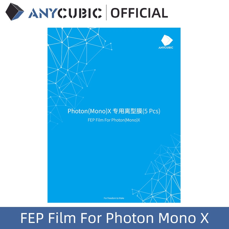 ANYCUBIC 5pcs/Lots FEP Film For Photon Mono X Resin 3D printer 260x175mm SLA/LCD FEP Sheets 0.1-0.15mm FEP Film For 3D Printer