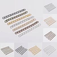 50pcs 6 colors necklace extender chain bracelet extender extension bulk tails diy craft jewelry matching connector wholesale