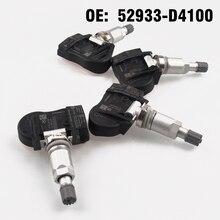 Capteur de moniteur de pression pneus de voiture   4 pièces TPMS 52933-D4100 52933D4100 pour KIA HYUNDAI GRANDEUR I30 IONIQ KONA Genesis G90 ELANTRA
