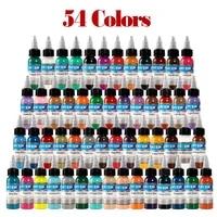 54 pcs body paint color tattoo ink set permanent makeup coloring pigment body tattoo art permanent makeup supply