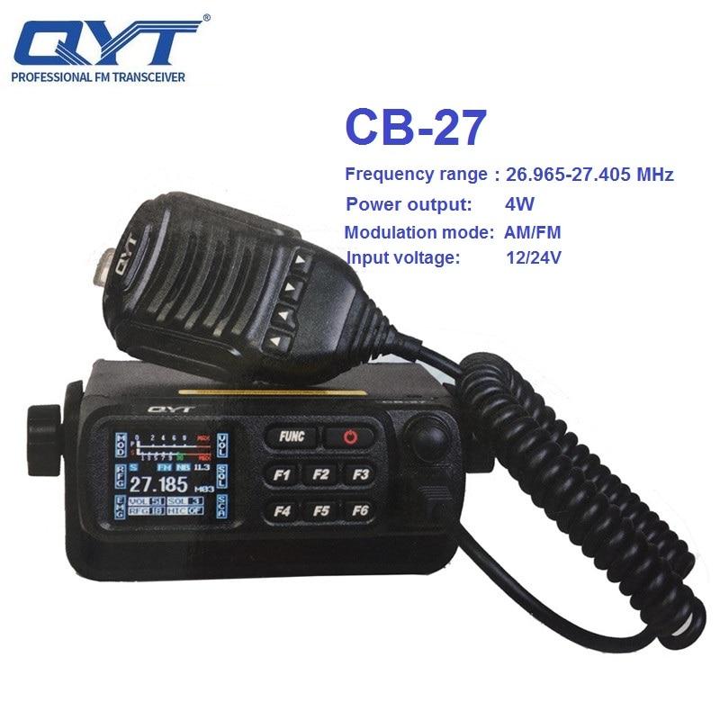 QYT CB-27 اسلكية تخاطب CB راديو محطة AM/FM وضع 26.965-27.405MHz الفرقة مواطن Shortware المحمول سيارة الترخيص الراديوي-شحن 4W 9CH