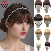 MANWEI Fake Bangs Extensions False Fringe Clip On Fringe Hair Clips Brown Blonde Women Fashion Bangs Accessories