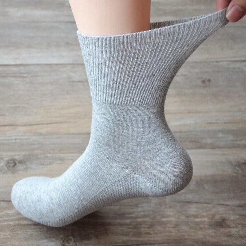 Calcetines para diabéticos, para pacientes hipertensores, para prevenir las venas varicosas, Unisex, calcetín holgado para la boca, Material de algodón de bambú 0052