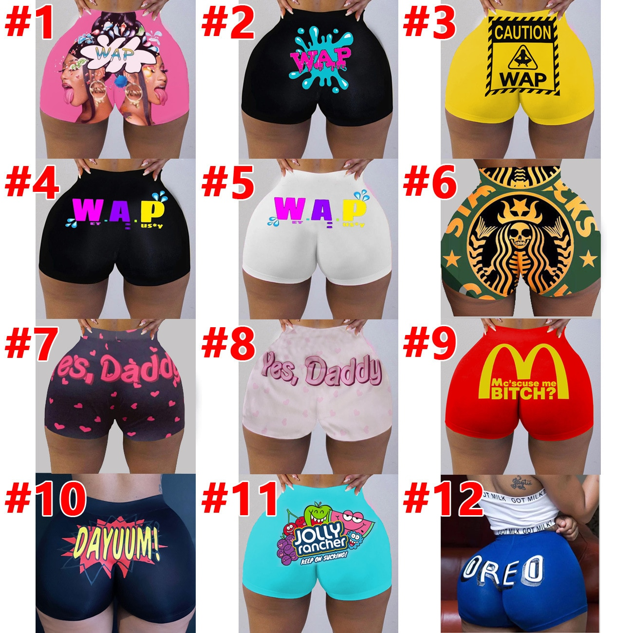 Горячая Распродажа, европейские и американские женские сексуальные обтягивающие шорты, шорты с принтом, штаны для йоги
