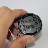 New 40 5mm Universal Snap-on Camera Lens Cap Front Lens Cover for Canon Sony Nikon SLR Camera Lens Protector with Anti-lost Cord