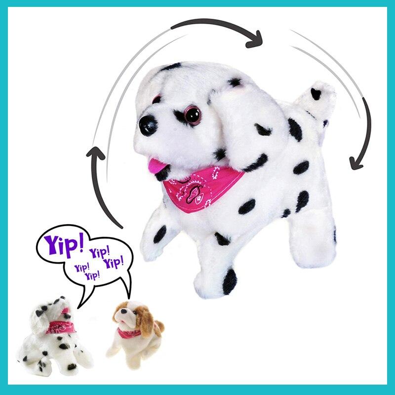 18cm bateria operado somersaulting eletrônico animais de estimação flip over filhote de cachorro qute casca interativa carrinho caminhada cão para o presente do bebê natal
