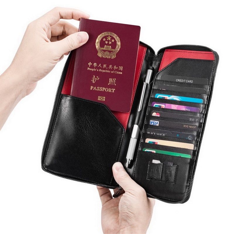 Genuine Leather Passport Holder Travel Wallet Men Women Passport Covers For Passports Case Fashion Handbags Credit Card Holder fashion genuine leather function card case business card holder men women credit passport card bag id passport card wallet