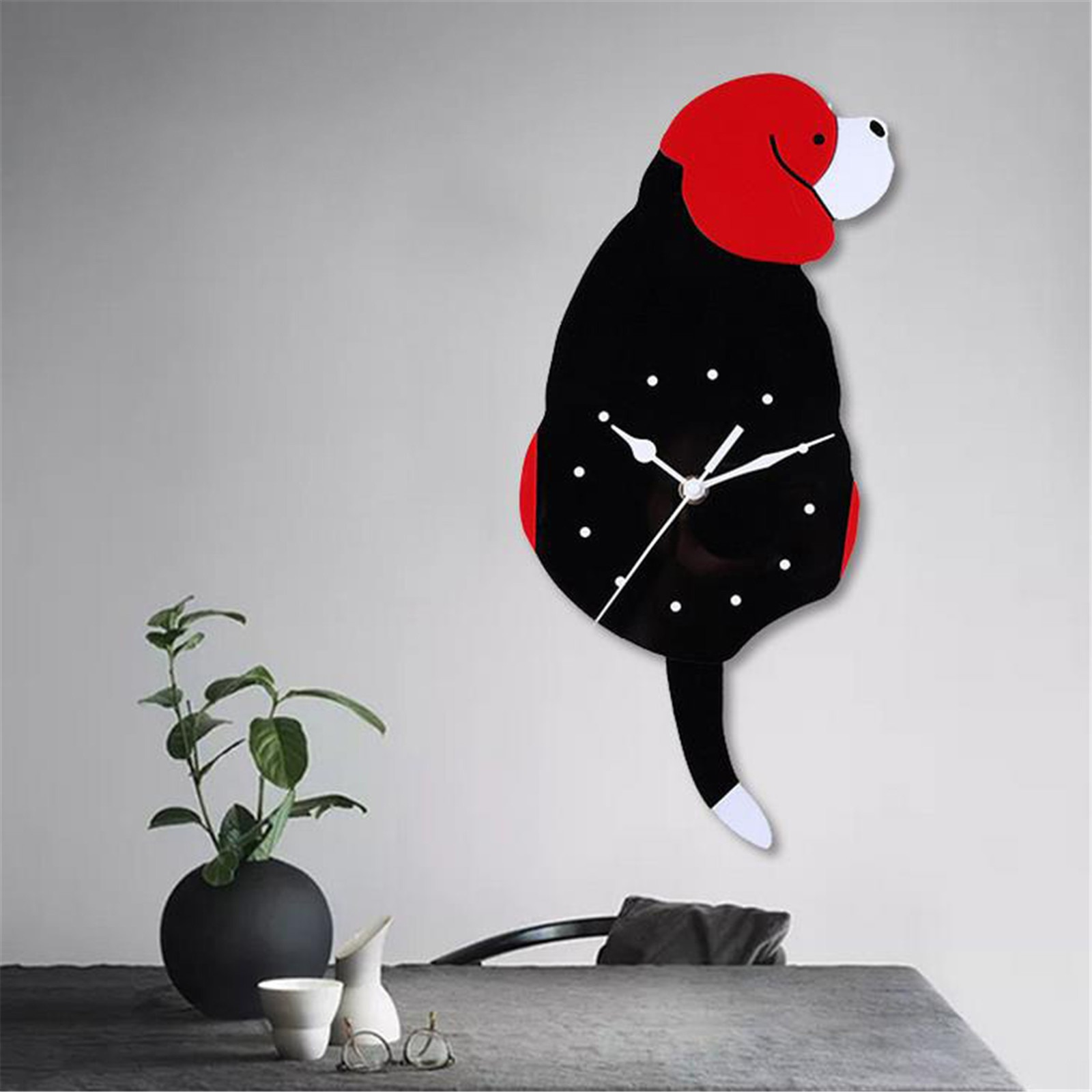 Reloj de Pared acrílico para niños, creativo, para cachorros, decoración para el...
