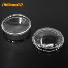 Buildreamen2 90mm 라운드 포그 라이트 투명한 유리 커버 렌즈 스바루 포레스터 아웃백 WRX 레거시 XV Impreza Levorg BRZ