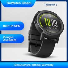 Смарт-часы TicWatch E (восстановленные) Bluetooth GPS спортивные часы iOS Android Google Play IP67 водонепроницаемые многоязычные