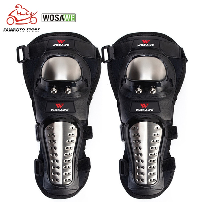 WOSAWE 2Pcs/Set Elbow Pads Stainless Steel Motorcycle Motocross Protective Gear Protector Elbow pad Guards Sports Armor Kit enlarge