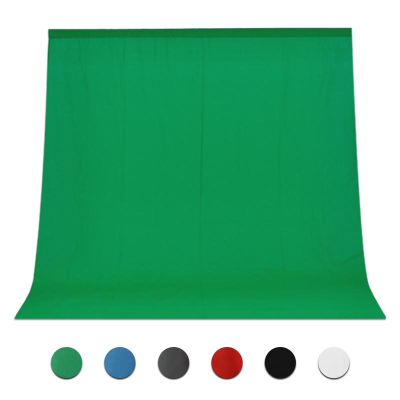 Hot Sale Green Color Cotton Non-pollutant Textile Muslin Photo Backgrounds Studio Photography Screen Chromakey Backdrop Cloth