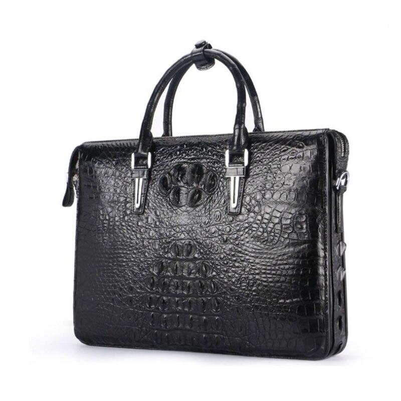hujingsha New crocodile skin men bag handbag genuine leather business crossbody bag single shoulder bag men briefcase men bag