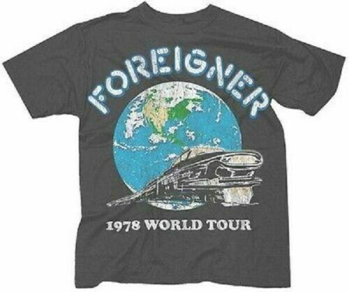 T-shirt étranger 1978 Tour du monde t-shirt nouveau authentique S 2Xl