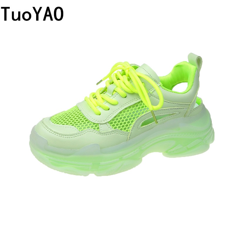 Women Platform Sneakers Designers Summer Mesh Lace Up Casual Shoes Fashion 5cm High Chunky Sneaker Ladies Vulcanized Shoes Woman