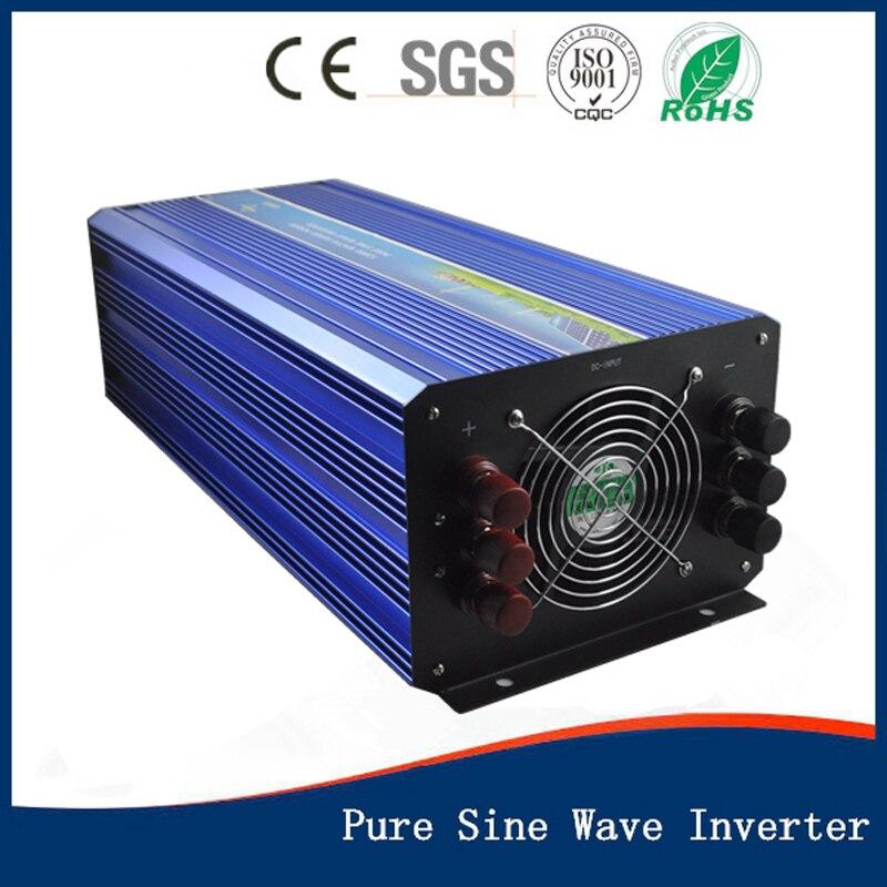 6KW Pure Sine Wave power Inverter 12/24/48V to 100/110/120/240/230/220V high frequency converter LED Display