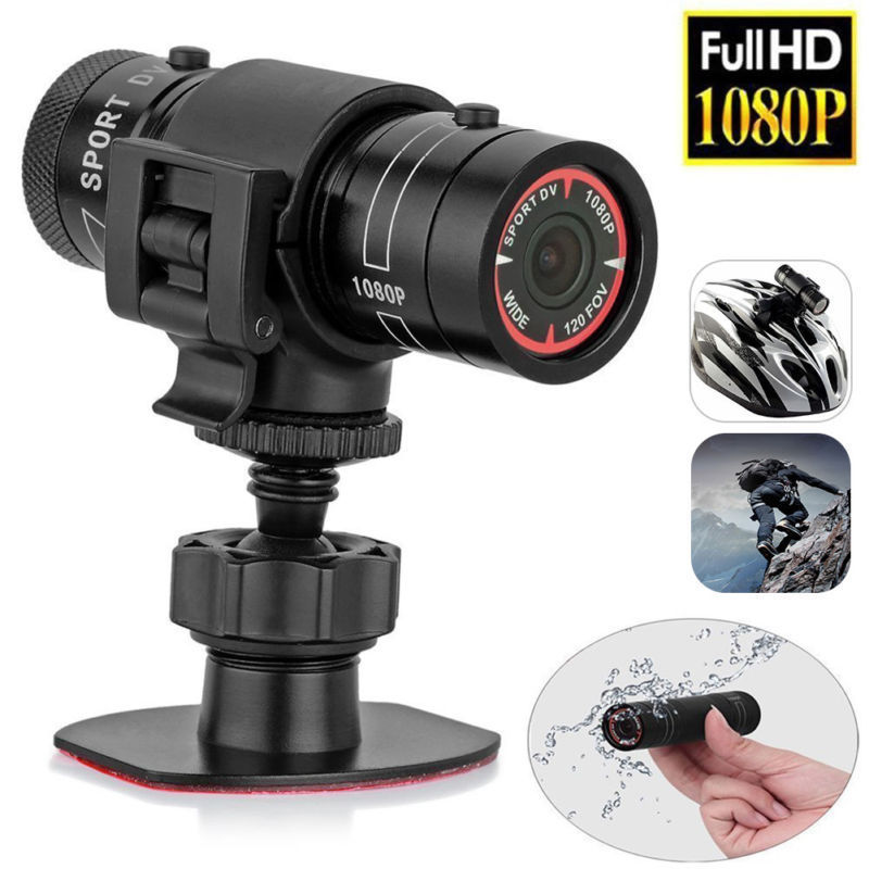 Mini F9 Camera HD Bike Motorcycle Helmet Sports Action Camera Video DV Camcorder Full HD 1080p Car Video Recorder auto vehicle