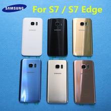 Новая задняя панель стеклянная батарея задняя крышка для Samsung Galaxy S7 G930 G930F G930FD S7 Edge G935 G935F G935FD + наклейки для объектива камеры