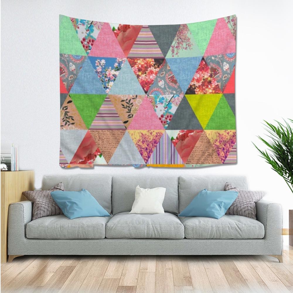 Tapiz gótico botánico geométrico Hippie Mandala de pared colgante dormitorio poliéster viaje Camping psicodélico mantel