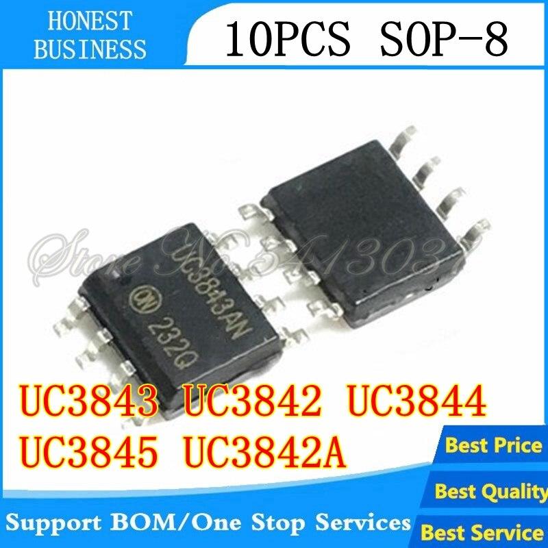 10 Uds UC3843 UC3842 UC3844 UC3845 UC3842A SOP-8