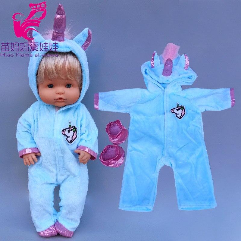 Pelele de muñeca de 40cm para Nenuco, Ropa de unicornio de 42cm, conjunto de Ropa para saltar de muñeca