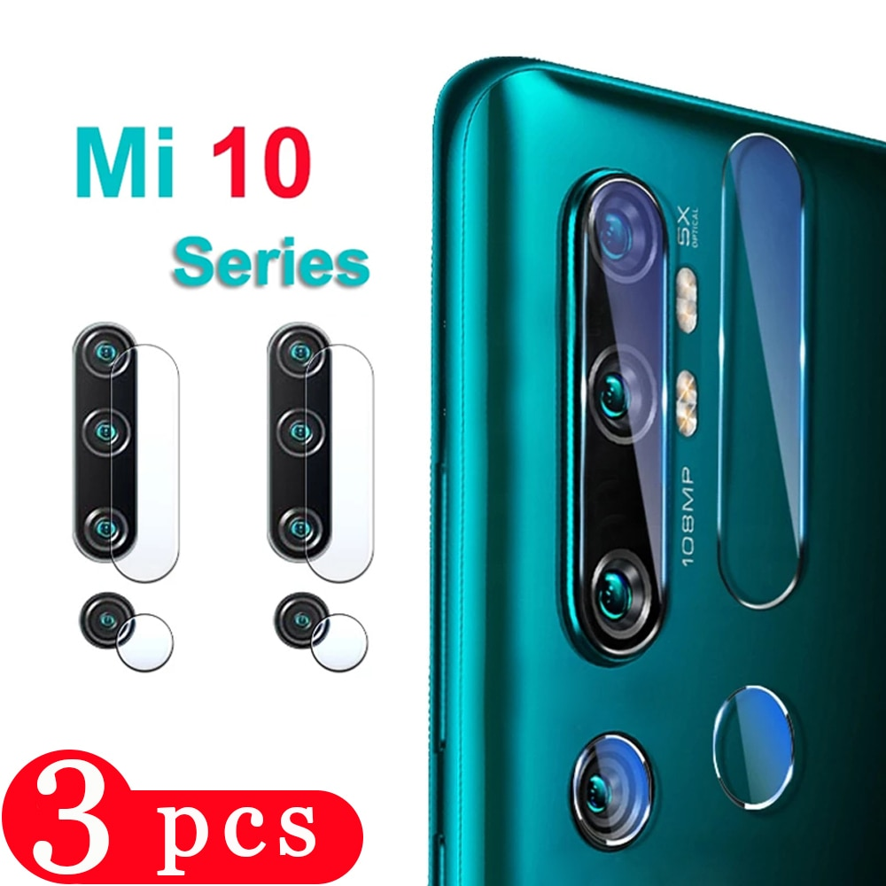 3/2/1Pcs for xiaomi mi note 10 UItra 10T cc9 cc9e 9 se 9T pro 8 lite 6X Camera protector Lens film phone screen protector Glass