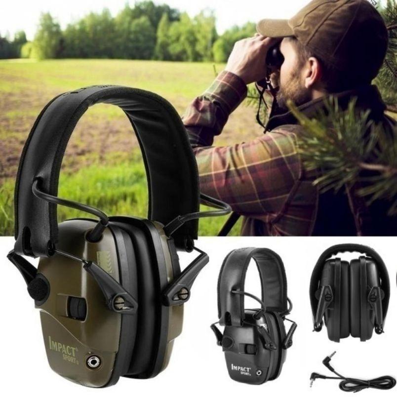 Electronic Shooting Earmuff Anti-Noise Tactical Ear Protector Hearing Protection Headset Foldable