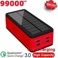 solar power bank 99000mah large capacity portable charger 2usb external battery outdoor waterproof power bank for xiaomi samsung
