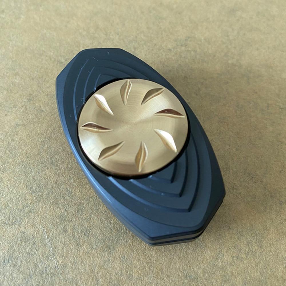 Fun Play EDC Fingertip Gyro Diamond Mirror Ppb Zirconium Diamond Mirror Push Card Toy Gyro PPB enlarge