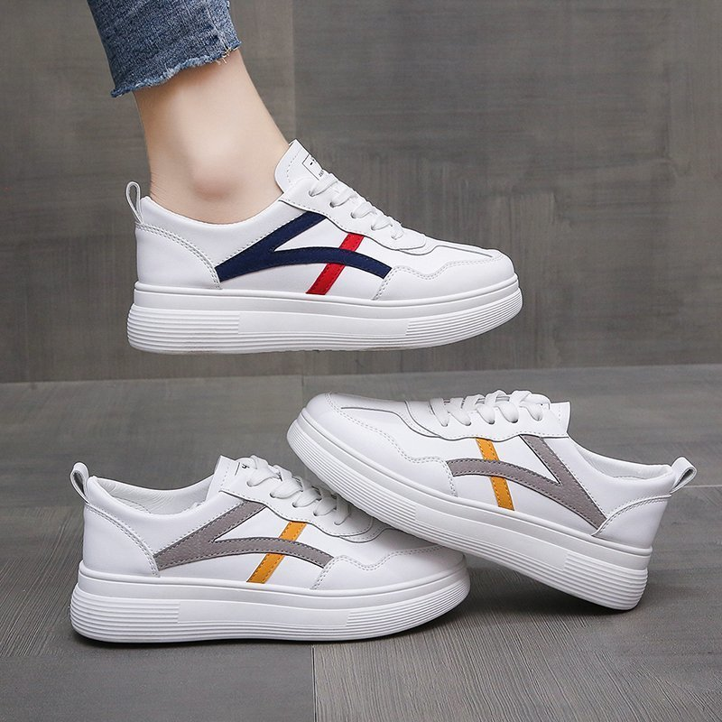 2021 Fashion Women Vulcanized Lace Up Sneakers Shoes Trainers Light Running Flats Sneakers Femme Females Women's Sneakers Shoes