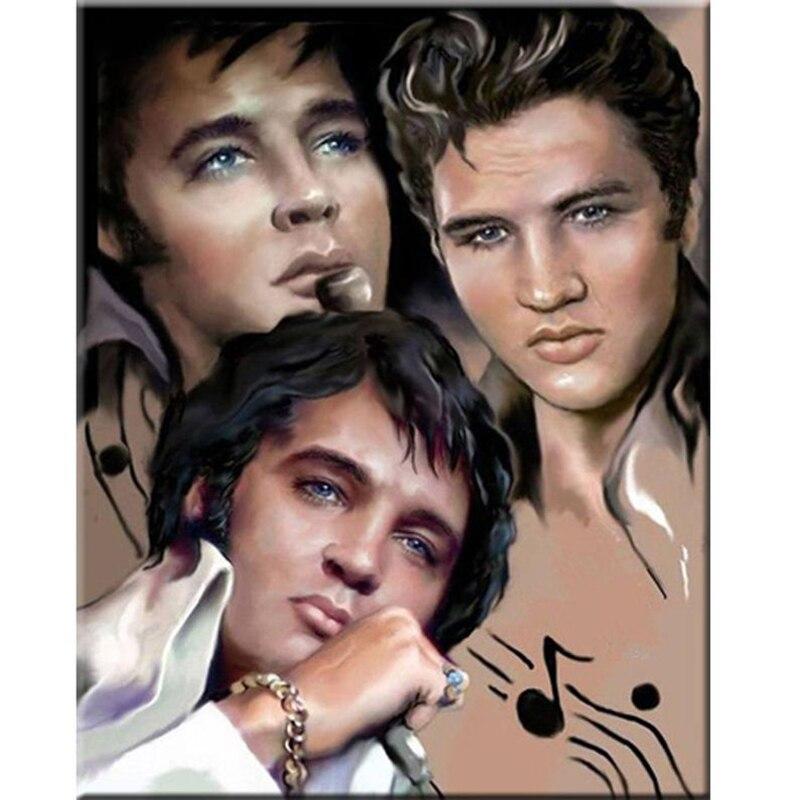 Elvis Presley, costura Diy, bordado de diamante, Cuadrado completo, taladro redondo de resina, pintura de diamante, Kits de punto de cruz, artesanía WG1894