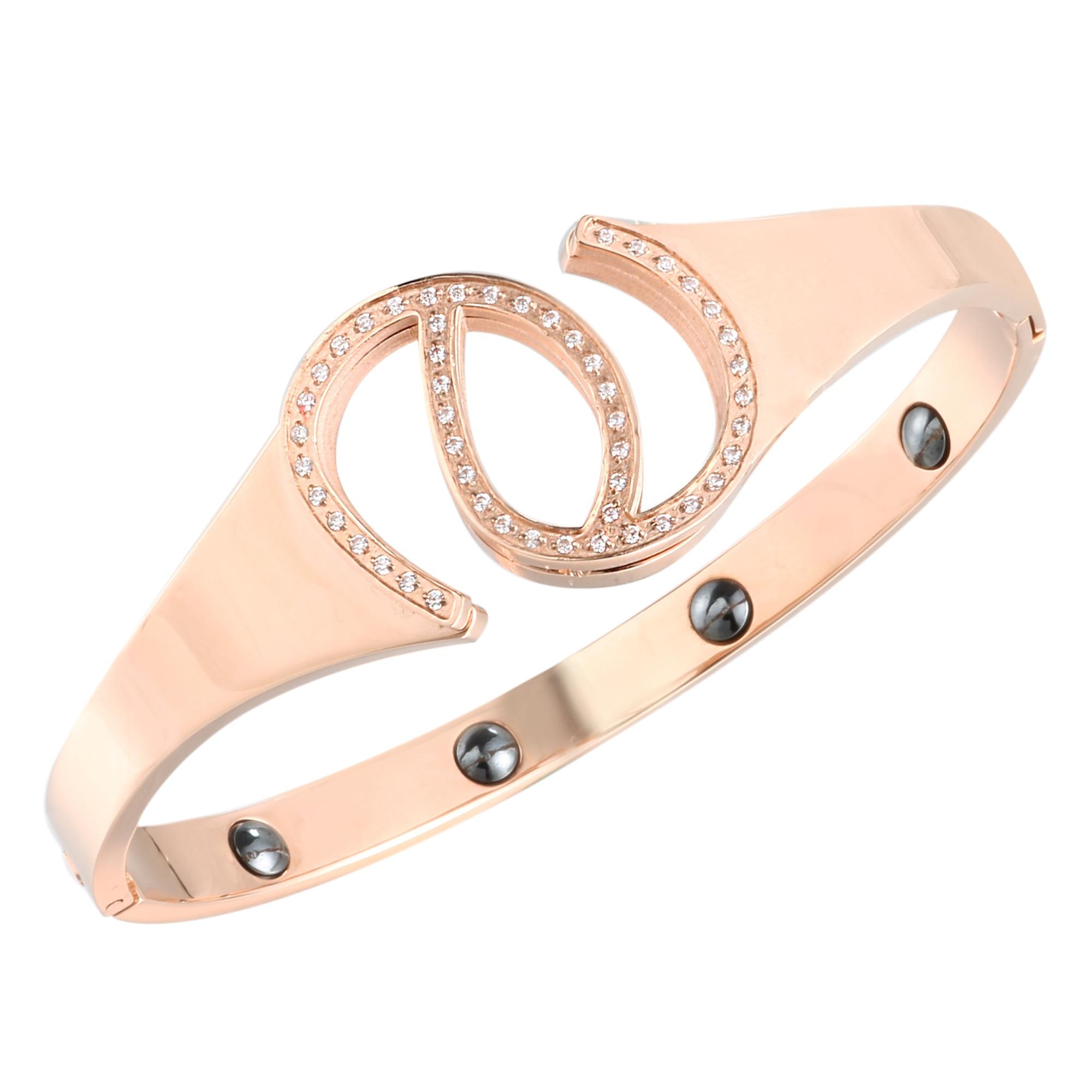 Brazalete de imán de cuidado de la salud para mujeres y hombres, brazalete de acero inoxidable, brazalete de regalo para promover la circulación sanguínea