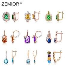 Stud Earrings For Women New Luxury Cubic Zirconia Vintage Earrings Fine Fashion Jewelry Accessories