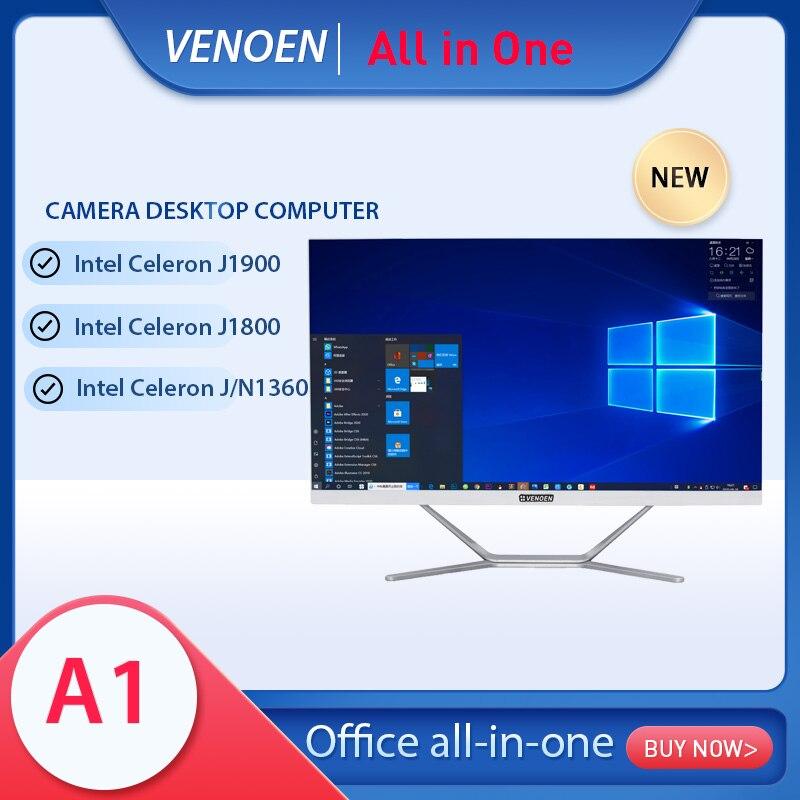 настольный моноблок, intel celeron j1900 j1800 j3160, 23,8 дюйма, для офиса, беспроводная клавиатура, мышь, windows10