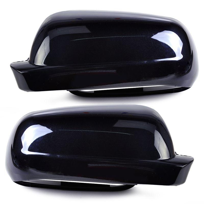 1 par de tapa protectora negra derecha + izquierda del espejo retrovisor para Vw Golf Mk4 Passat B5 1998-2005 Jetta 2001 2002 2003 2004