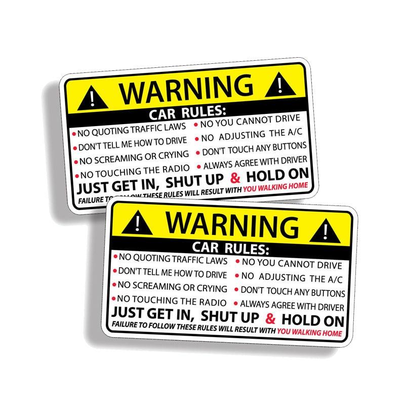 10x7,5 см бутик фучжэнь наклейки внешние аксессуары забавные автомобильные предупреждающие правила безопасности наклейка ПВХ творческие авт...